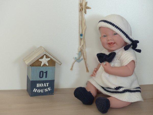 """Matrosenkleid """"Mary"""", Puppenkleidung für 30 cm, 35 cm, 43 cm und 48 ..."""