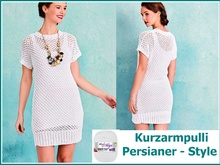 Kurzarmpulli Persianer-Style Stricken mit Woolly Hugs BANDY