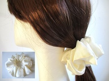 satin hair scrunchie sewing pattern pdf, 4 sizes