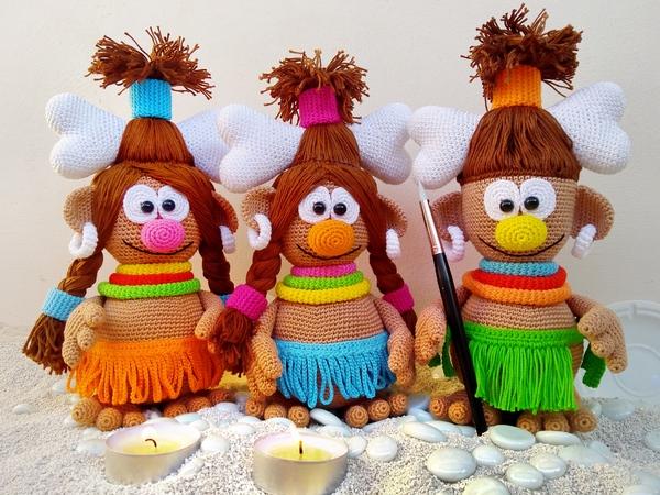 Puppen häkeln // Afrikanische Puppen häkeln