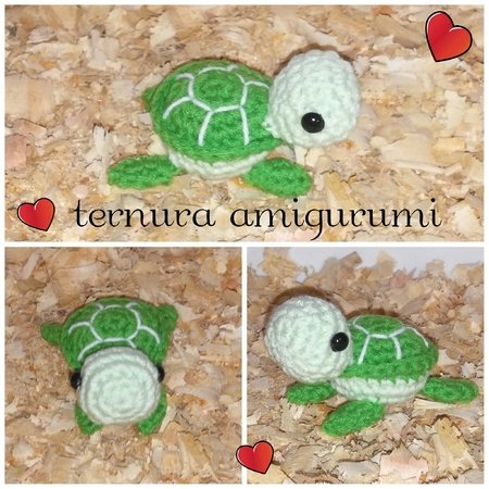 Crochet pattern of the Turtle family PDF english- deutsch- dutch by ternura amigurumi