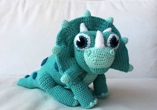 Trixie The Dino Crochet Pattern