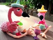 Flamingo Amigurumi Haakpatroon In Nederlans Duits En Engels Us Terms