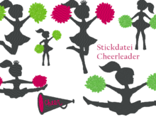 Stickdatei Cheerleader