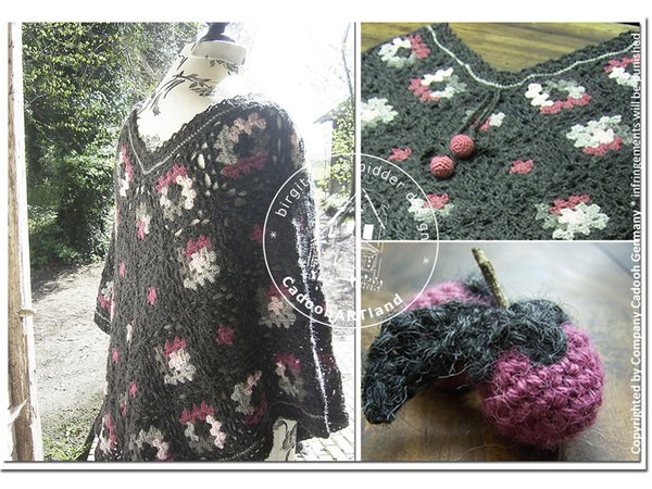 Poncho Winterberries - Sizes XL/2XL ...  adjustable sizing ...