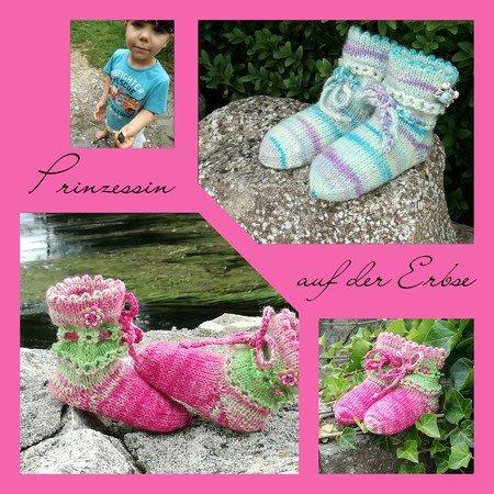 premium selection bbb63 3b903 Strickanleitung für Baby Söckchen, Baby- Schuhe *Prinzessin auf der Erbse
