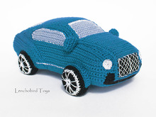 Amigurumi pattern for the blue Bentley crochet car