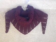 Crochet shawl pattern-Bordeaux shawl