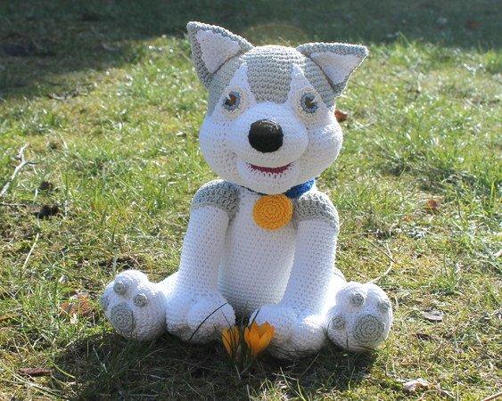 husky (entala) Tags: dog toy husky amigurumi | Crochet wolf ... | 450x563