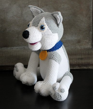Siberian Husky Crochet Amigurumi Doll PDF Crochet Pattern Instant ... | 450x385