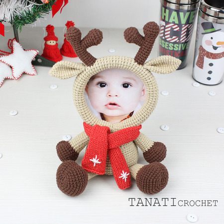 Crochet Pattern of Photo Frame DEER