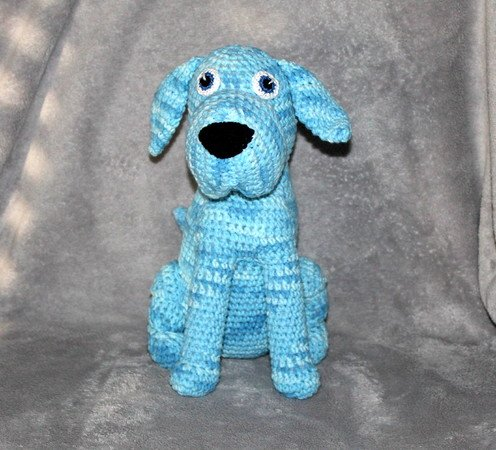 Blue the dog crochet pattern