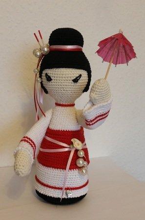 Häkelanleitung Geisha *SAYURI* japanische Puppe