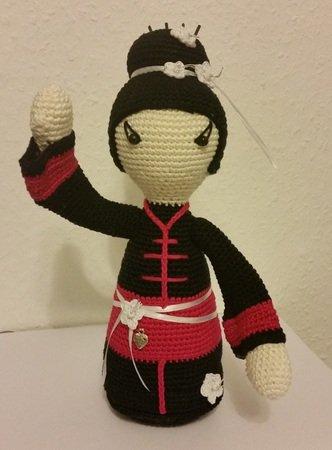 Häkelanleitung Geisha *TOMOKO* japanische Puppe