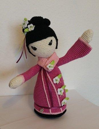 Häkelanleitung Geisha *SAKURA* japanische Puppe