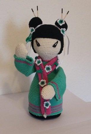 Häkelanleitung Geisha *Reika* japanische Puppe