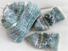Strickanleitung _    Baby-Set-Norway