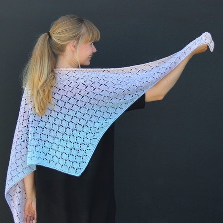Knitted Sunrise Shawl