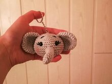 Key Chain Elephant - Crochet Pattern