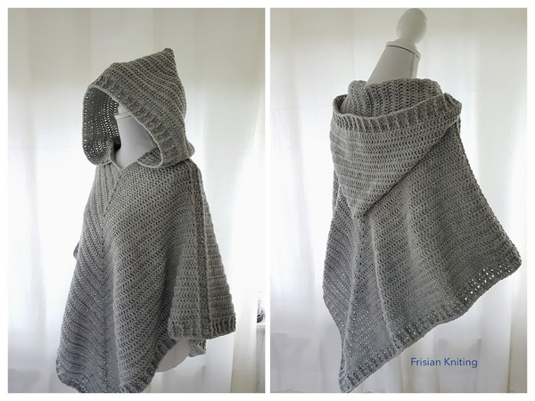 Pattern hooded poncho