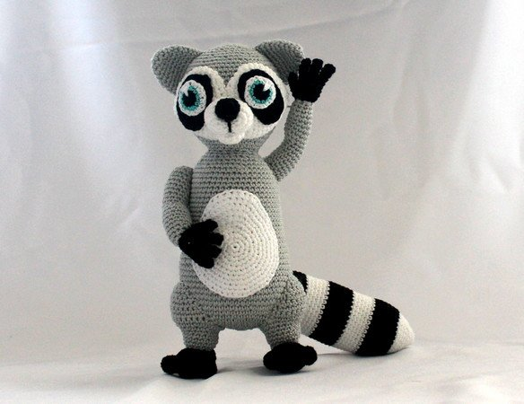 Baby Knitting Patterns Baby raccoon amigurumi crochet pattern. PDF ... | 450x584