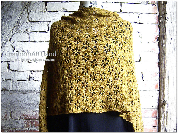 Desert Flower - large stole/shawl - crochet pattern