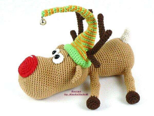 Reindeer Rednose Crochet Pattern By Haekelkeks