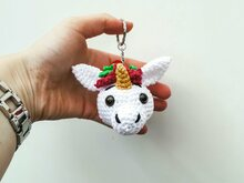 Key Chain Unicorn - Crochet Pattern