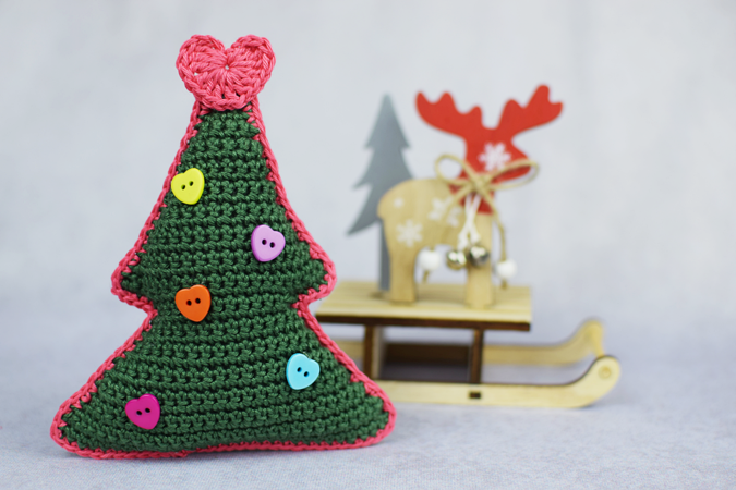 Tannenbaum häkeln // Weihnachtsdeko häkeln