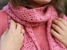 PDF Pink Lace Scarf - crochet pattern by gull808