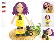 Crochet Pattern LOLA and her Cat (English, German, Turkish)