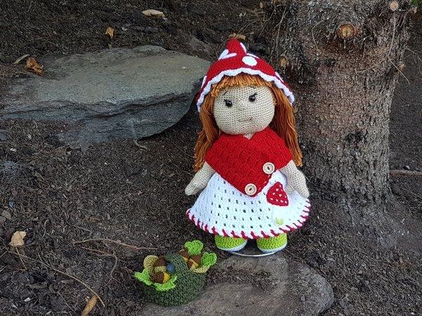 Puppe Häkeln Fliegenpilz Outfit Häkeln