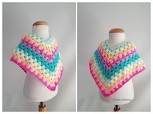 pattern unicorn poncho newborn, toddler, child, girl // crochet pattern // granny poncho // rainbow poncho // unicorn poncho
