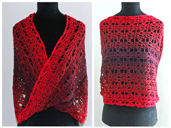 "Crochet pattern - Twisted Infinity Scarf ""La Rose"""