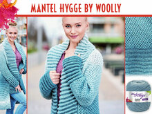 MANTEL HYGGE BY WOOLLY, gestrickt