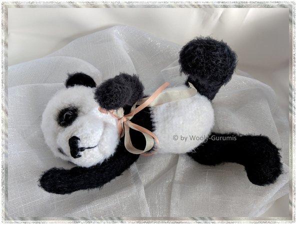 Bonnie Cute Panda Doll Crochet Pattern - Amigurumi Panda Doll ... | 450x594