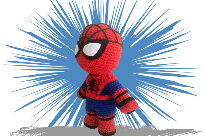 Spiderman Pattern Amigurumi PDF Deutsch - English