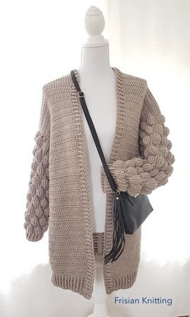 Pattern Bubble cardigan