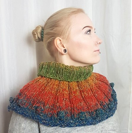 Loop, Cowl Knitting instruction, one size
