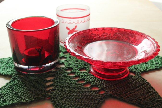 Häkelanleitung Weihnachtsdeckchen Stern Tischdecke Rund