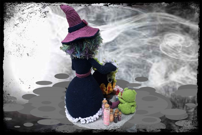 Trick or treating - Witch Morgana Pattern Amigurumi PDF Deutsch - English