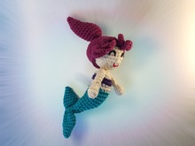 little mermaid doll or rattle crochet pattern