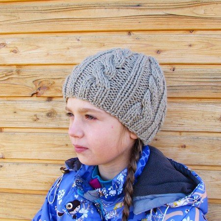 Beanie hat, knitting pattern, size for toddler, child, adult.