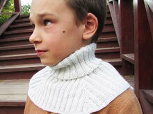 Shirtfront scarf, knitting pattern, dickey toddler child adult.