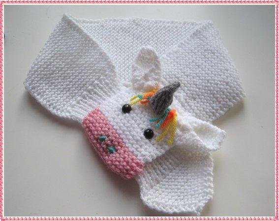Babyschal Strickenkinderschaleinhornmotiv