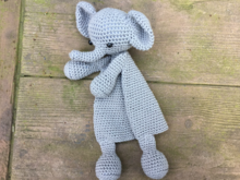 Amigurumi First Toy Elephant Crochet Security Blanket Pattern