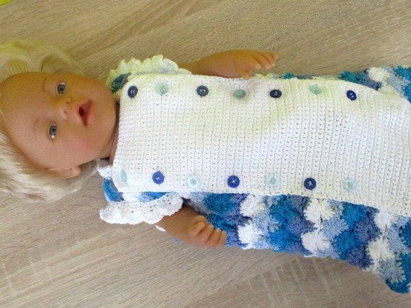 Häkelanleitung- Schlafsack für Babypuppe 43 cm