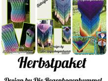 Herbstpaket Tunika Squirrel, Poncho Midnight Summer und Tuchweste rebohu