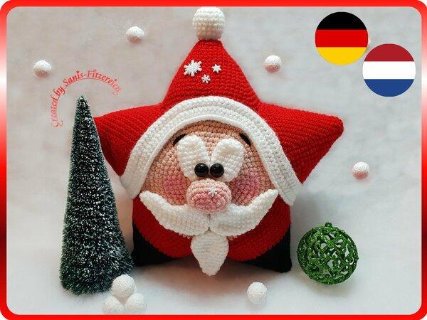 Weihnachtsmann Häkeln Sternen Figur Diy