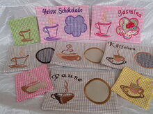 Stickdatei Kaffee In the Hoop Mug Rug Tassenteppich